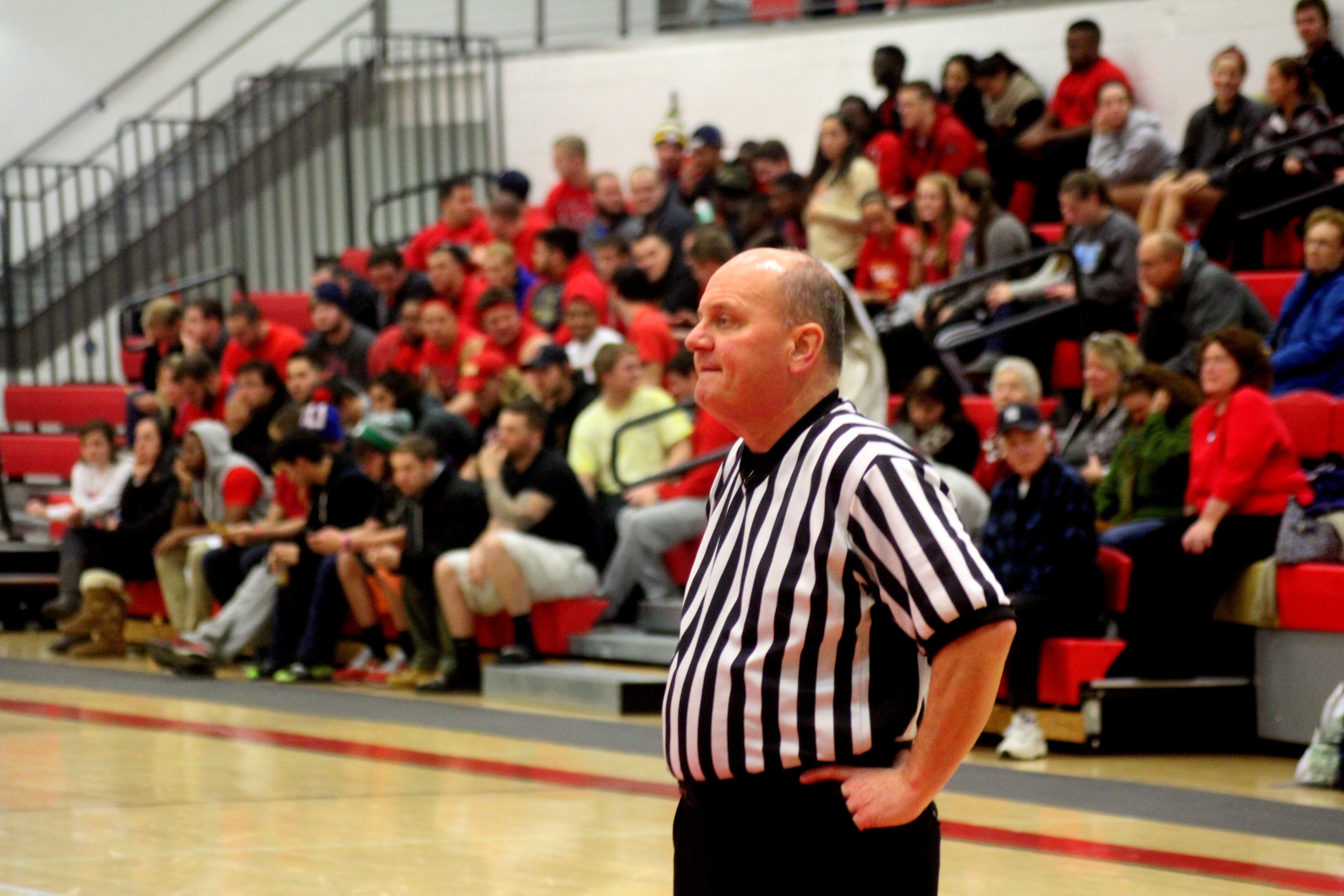 Referee Greg Moyer, at ease, during Delaware Valley's romp of King's College | Staff Photographer: Tyler R. Tynes