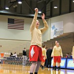 Katie Dugan lines up a shot in warm ups | Tyler R. Tynes, Staff Photographer
