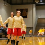 Hayleigh Hanson readying herself for a rebound in warm ups | Tyler R. Tynes, Staff Photographer