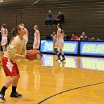 Kasey Seitz at the perimeter in warm ups | Tyler R. Tynes, Staff Photographer