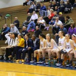 Wilkes' bench during the clash with King's College Wednesday night | Tyler R. Tynes, Staff Photographer
